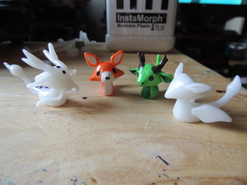 Custom painted figurines - fox and mythical creatures